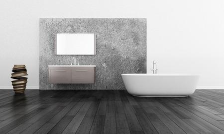Modern Bathroom Interior with Modern Furniture