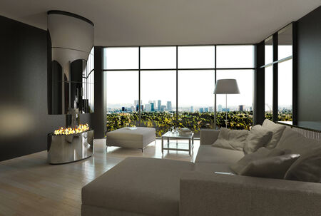 luxury living room: 3D rendering of luxury living room interior