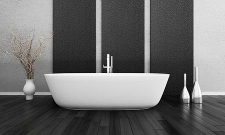 cuarto de ba�o: Representaci�n 3D de moderno cuarto de ba�o interior