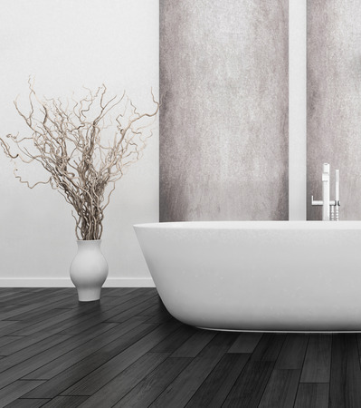 3D rendering of modern bathroom interior