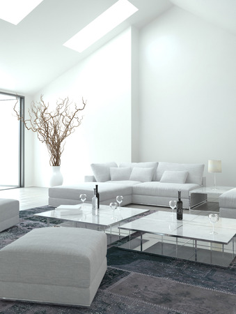 beautiful living: Classy white living room