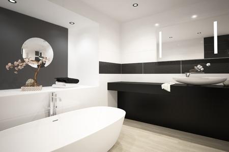 現代浴槽のインテリア