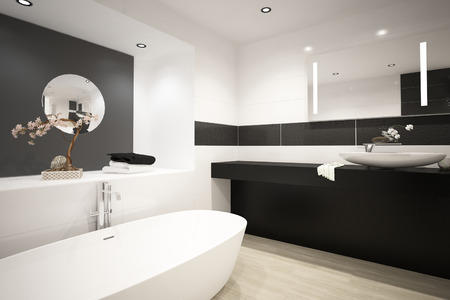 bathtub: Modern bathtub interior
