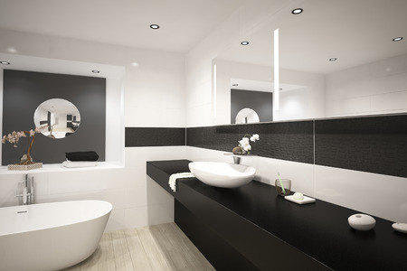 bathroom design: Modern bathtub interior