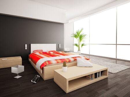 no heels: Inside a modern bedroom