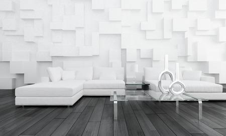Een moderne woonkamer Stockfoto