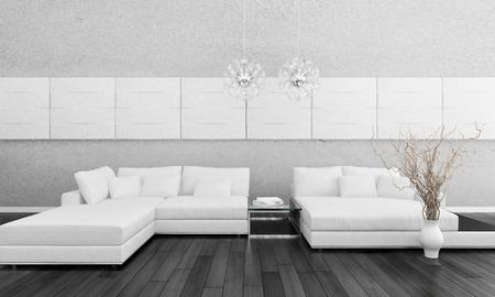 Un salone moderno Archivio Fotografico - 32227476