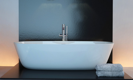 Modern bathtub interior photo