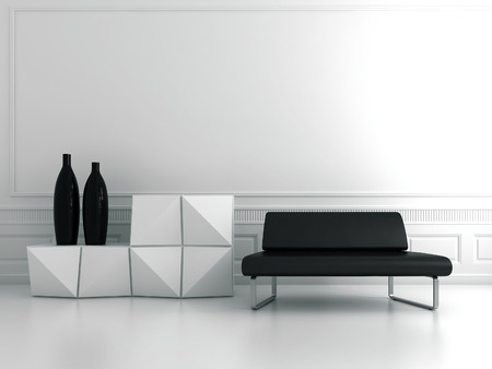 Modern chair and table photo