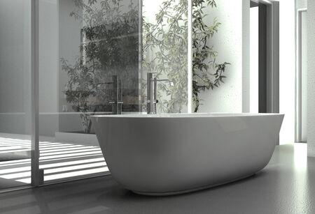 bath tub: Modern bathtub interior