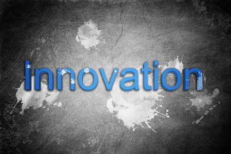 wordings: Innovation word in blue