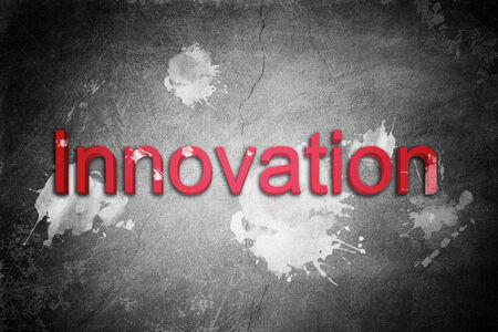 wordings: Innovation word in red
