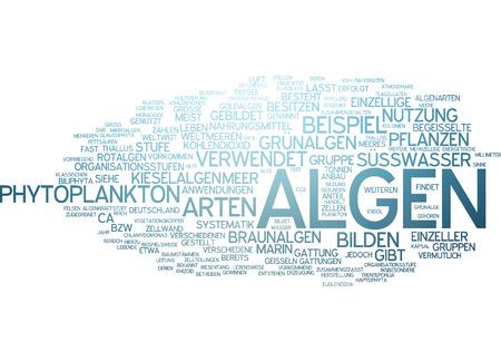 unicellular: Parola nube di alghe in lingua tedesca