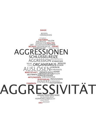 aggressiveness: Word cloud of aggression in German language