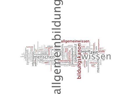 general knowledge: Word cloud of general knowledge in German language