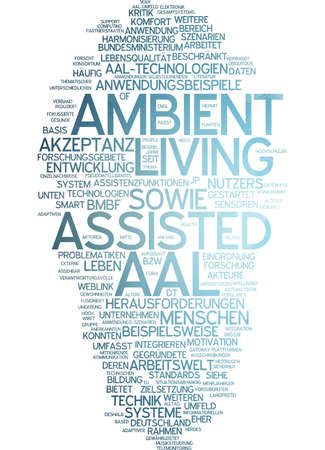assisted: Word cloud of ambient assisted living in German language