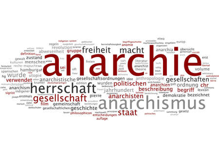 anarchism: Word cloud of anarchy in German language