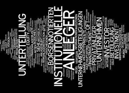 publicly: Word cloud of investor in German language