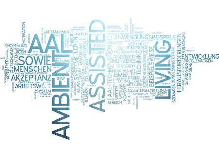 assisted living: Word cloud of ambient assisted living in German language