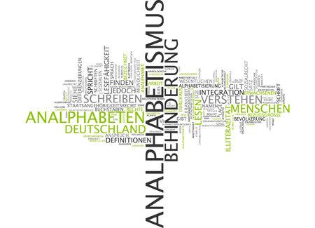 illiteracy: Nube de palabras de analfabetismo en lengua alemana