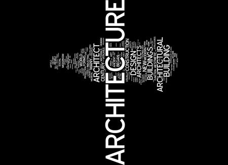english language: Word cloud of architecture in English language Stock Photo