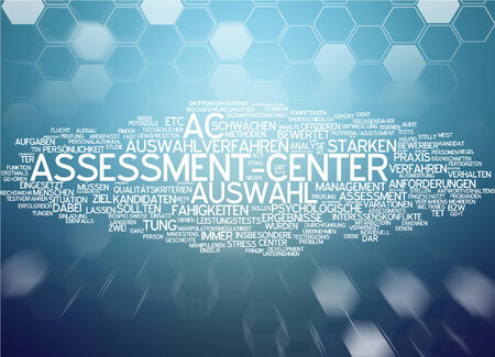 Word cloud of assessment center in German language