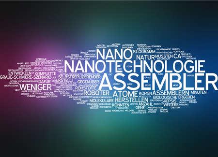 the assembler: Word cloud of nano assembler in German language