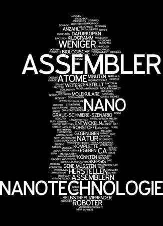 nanotech: Word cloud of nano assembler in German language
