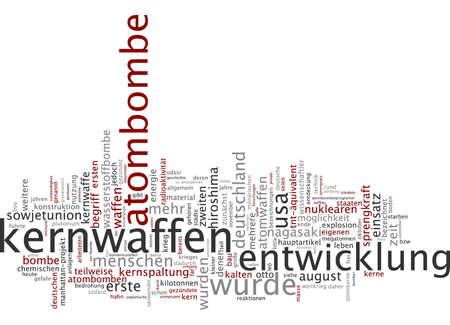 bombe atomique: Parole nuage de bombe atomique en langue allemande Banque d'images