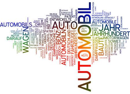 emigrant: Word cloud of automobile in German language Stock Photo