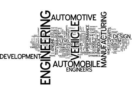 english language: Word cloud of Engineering in English language Stock Photo
