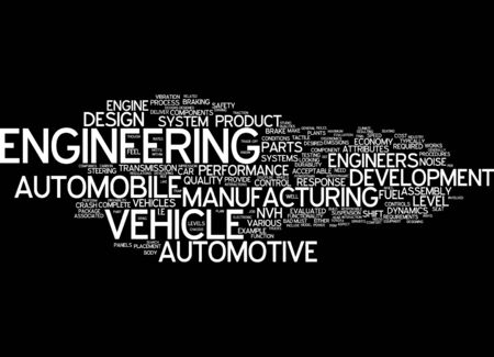 structural engineers: Word cloud of Engineering in English language Stock Photo