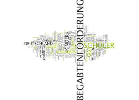 gifted: Word cloud of gifted in German language