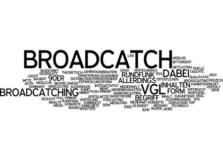 podcasting: Word cloud of broad catch in German language