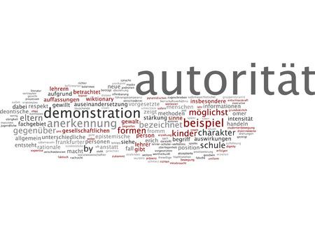 beh�rde: Word-Cloud von Autorit�t in deutscher Sprache
