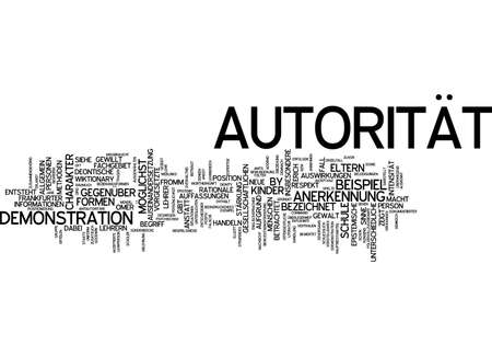 and authority: Nube de palabras de la autoridad en lengua alemana