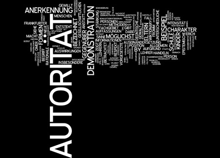 authority: Word cloud of authority in German language