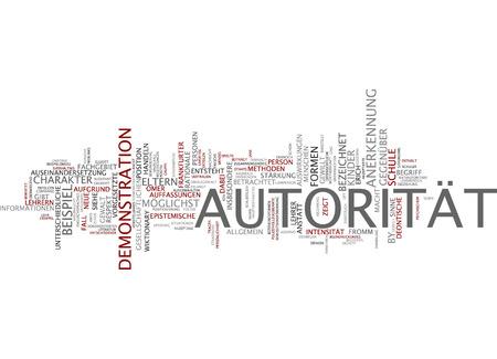 autoridad: Nube de palabras de la autoridad en lengua alemana