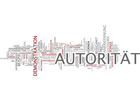 acknowledgement: Word cloud of authority in German language