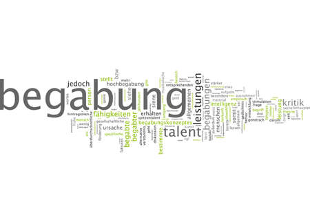 obtain: Word cloud of talent in German language