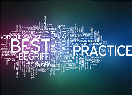 best practice: Word cloud of best practice in German language