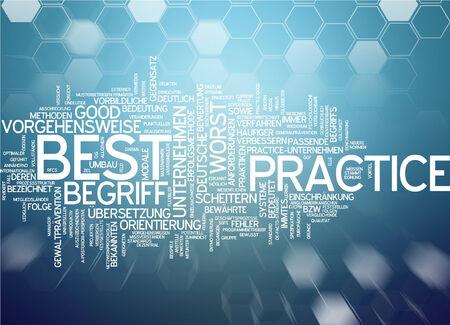 best practice: Word cloud of best practice in German language