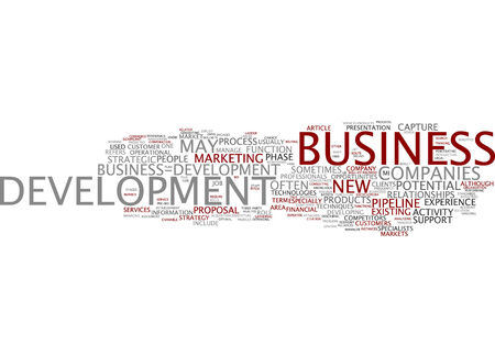 Word cloud of business development in English language
