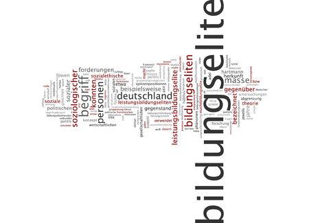 �lite: Parola nube di elite educativa in lingua tedesca