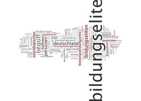 elite: Word cloud of educational elite in German language