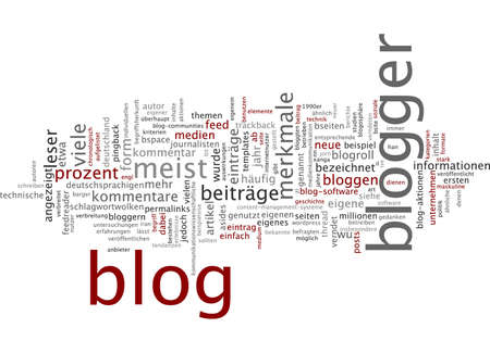 blogger: Word cloud of blogger in German language
