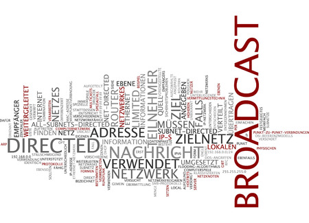 directed: Word cloud of broadcast in German language