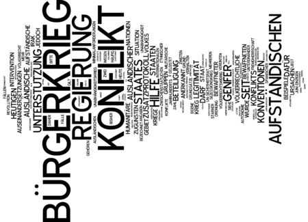 legitimacy: Word cloud of civil war in German language Stock Photo