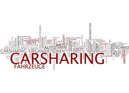 Word cloud - carsharing photo