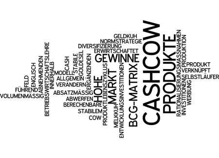 Word cloud of cash cow in German language